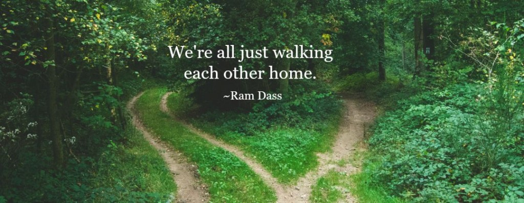 Divided path in the woods Ram Dass